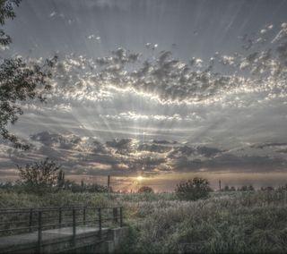 Обои на телефон холод, утро, природа, пейзаж, облака, восход, вид, stunning sunrise