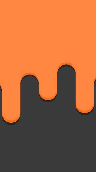 Обои на телефон плоские, черные, серые, оранжевые, дизайн, slime, melting, mbe design, mbe