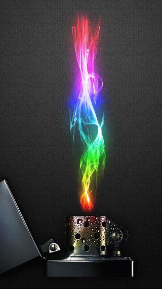 Обои на телефон пламя, цветные, зажигалка