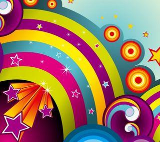Обои на телефон цветные, радуга, небо, красочные, звезды, звезда