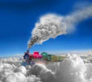 Обои на телефон поезда, небо, абстрактные, 3д, 3d