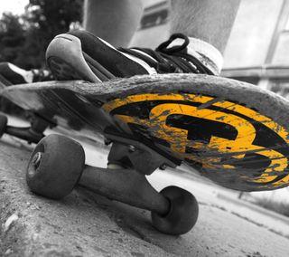 Обои на телефон скейтборд, скейт, оранжевые, обувь, pavement, grind