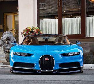 Обои на телефон чирон, бугатти, синие, новый, машины, bugatti chiron, bugatti