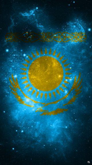 Обои на телефон орел, флаг, синие, космос, turkic, kz, kazakistan, kazakhstan