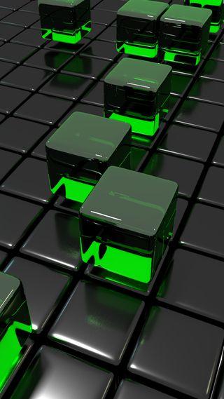 Обои на телефон кубы, шаблон, стекло, сетка, простые, куб, зеленые, блестящие, sleek, cube grid green