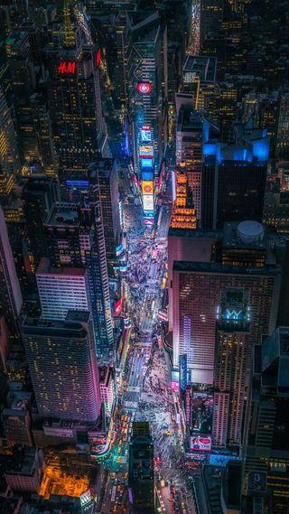 Обои на телефон здания, город, ночь