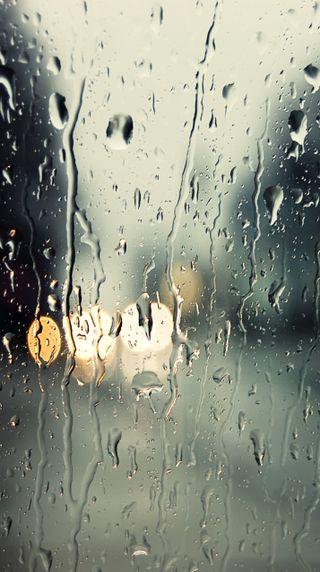 Обои на телефон окно, капли, вода, абстрактные