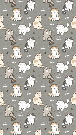 Обои на телефон каваи, michis, gatos