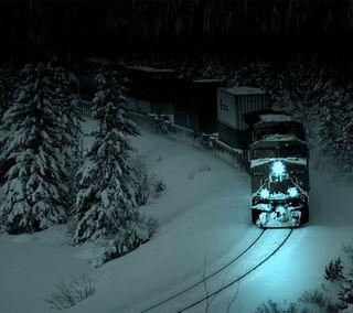 Обои на телефон поезда, зима