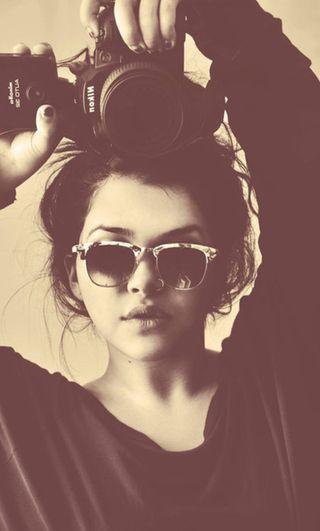 Обои на телефон фотография, солнечные очки, прекрасные, милые, камера, девушки, винтаж