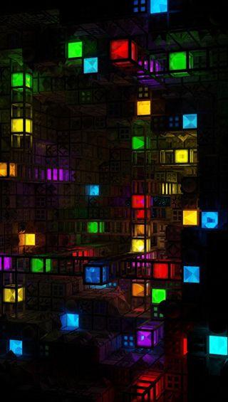 Обои на телефон цветные, кубы, красочные, абстрактные