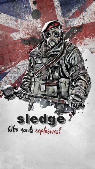 Обои на телефон шесть, радуга, осада, sledge elite, sledge, rainbow six siege