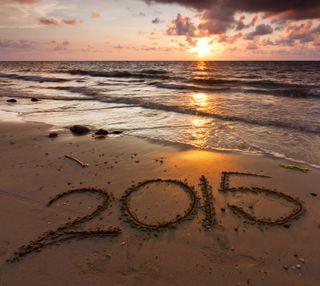 Обои на телефон 2015, beach sunset, природа, вода, закат, пляж, солнце, волны
