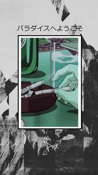Обои на телефон сигареты, камера, дым, дизайн, горы, высказывания, вейпорвейв, аниме, paradaisu, 90е, 80е
