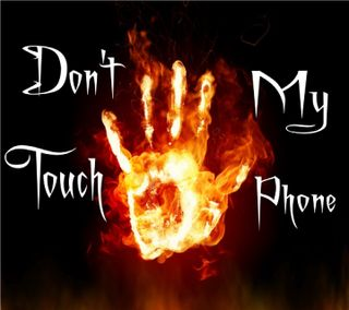 Обои на телефон трогать, стены, предупреждение, не