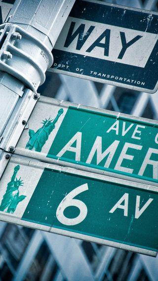 Обои на телефон нью йорк, улица