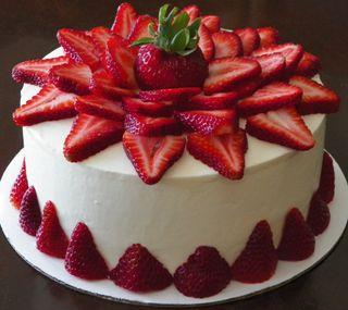 Обои на телефон торт, милые, клубника, другие, десерт