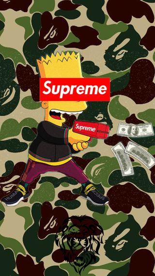 Обои на телефон скейт, бейп, симпсоны, камуфляж, барт, арт, zedge2k19, vynton, tumblr, supreme, art