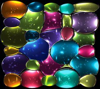 Обои на телефон абстрактные, красочные, стекло, мозаика, окрашенный