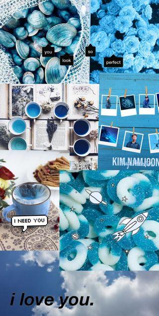 Обои на телефон эстетические, темные, синие, симпатичные, tumblr
