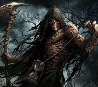 Обои на телефон смерть, скелет, мрачные, жнец, души, scythe, reaper of souls