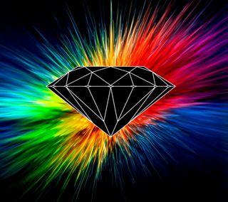 Обои на телефон бриллиант, цветные, скейт, логотипы, красочные, взрыв, брызги, color burst diamond