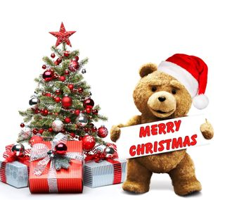 Обои на телефон тед, медведь, счастливое, санта, рождество, милые, забавные