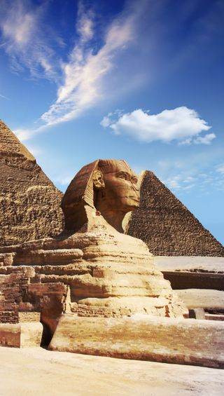 Обои на телефон пирамиды, пирамида, египет, древний, sphinx