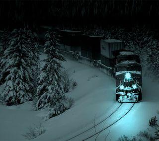 Обои на телефон поезда, зима, winter train hd, hd