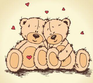 Обои на телефон тедди, любовь, teddy love, nexus, ksh