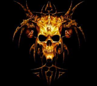 Обои на телефон скелет, череп, цветные, темные, страшные, огонь, жуткие, готические, арт, on fire, art
