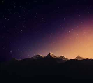 Обои на телефон небо, звезда, горы, андроид, m9, htc, android
