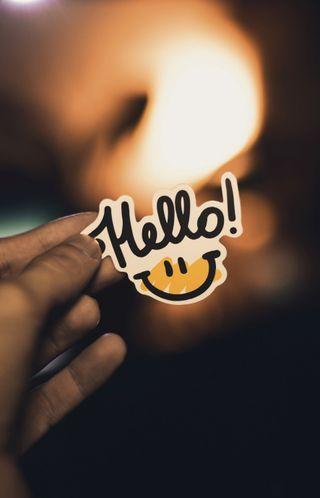 Обои на телефон привет, смайлики, жизнь, вдохновение, hello