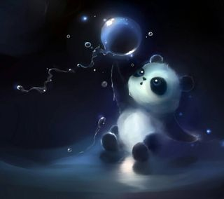 Обои на телефон панда, panda baer