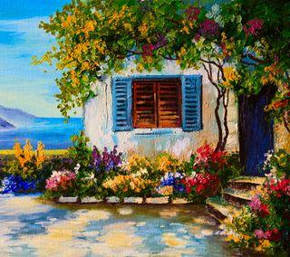 Обои на телефон боль, фон, старые, красочные, картина, дом, дизайн, арт, art