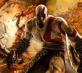 Обои на телефон сони, санта, кратос, война, бог, sony, santa monica, kratos hd gow, god of war