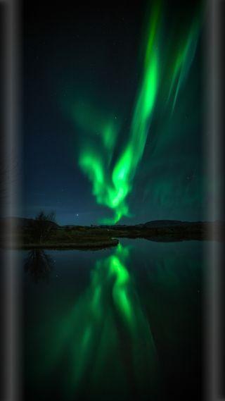 Обои на телефон аврора, природа, ночь, красота, зеленые, грани, s8, s7