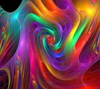 Обои на телефон спираль, радуга, красочные