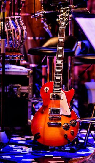 Обои на телефон группа, гитара, band guitar on stage