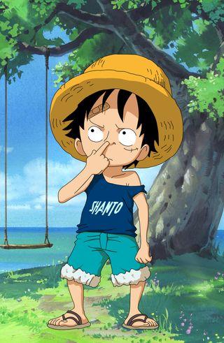 Обои на телефон hd, kid luffy by shanto, аниме, анимация, луффи, малыш