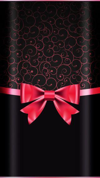 Обои на телефон лук, черные, красые, красота, грани, арт, s8, s7, red bow, beautydesign, art