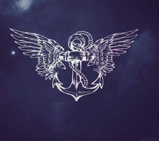 Обои на телефон якорь, тяжелый, летать, крылья, ты, fly with you heavy p