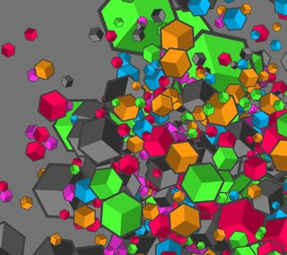 Обои на телефон кубы, цветные, неоновые, абстрактные