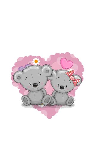 Обои на телефон медведи, любовь, love