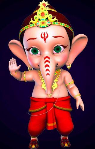 Обои на телефон религиозные, мультфильмы, ганеш, bal ganesh