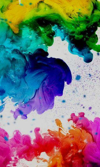 Обои на телефон цветные, радуга, дым, rainbows smoke