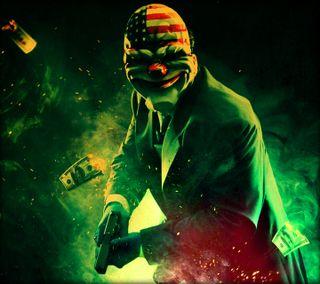 Обои на телефон сумасшедшие, оружие, клоун, джокер, деньги, bank robbing clown