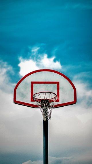 Обои на телефон щит, небо, кольцр, баскетбол, basketball ring
