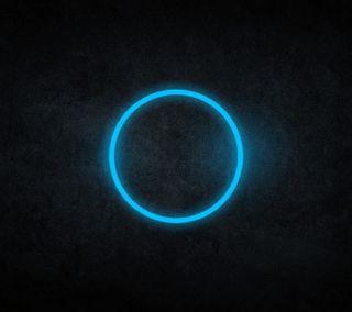 Обои на телефон круги, синие, кольцр, абстрактные