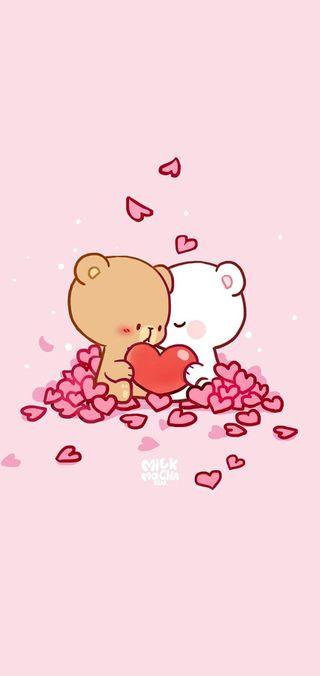 Обои на телефон тедди, кролики, розовые, молоко, милые, медведь, кролик, milk mocha bear, milk mocha